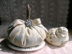 Elegant Victorian Style Pumpkins Fall Home Decor by ShoreCrafty