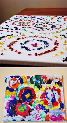 Crayon art.              Gloucestershire Resource Centre http://www.grcltd.org/scrapstore/
