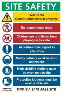 Construction Signs | CSS Signs Shop Office Safety, Site Office, Construction Signs, Signwriting, Gym Design, Shop Signs, Building Signs, Store Signs, Shop Signage