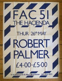 POSTER THE HACIENDA - 26.05.1983 – MANCHESTER DISTRICT MUSIC ARCHIVE
