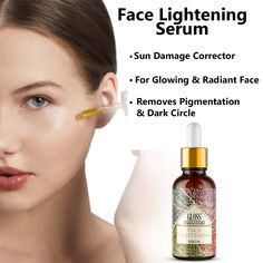 • Lightweight Oil • Non-sticky & Non-greasy • Skin Whitening Serum • Moisturize your skin • Reduce the sign of Aging • Helps Soothe and Heal your skin • Maintain skin PH Balance Face Lightening, Greasy Skin, Even Out Skin Tone, Skin Whitening, Face Serum, Ph, Moisturizer, Healing, Sign