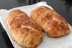 Braided Raisin Walnut Loaves