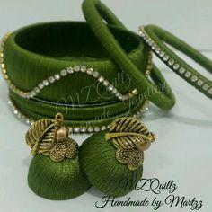 Silk Thread Jhumkas, Silk Thread Necklace, Beaded Necklace Patterns, Silk Thread Bangles, Thread Jewellery, Jewelry Patterns, Quilling Earrings, Silk Art, Jewelry Design