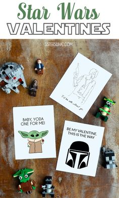 Valentine's Day Gifts : Baby Yoda and more Star Wars Valentines Free Printable - Do It Yourself : Explore & Discover the best and the most trending DIY inspirations Starwars Valentines, Valentines For Kids, Valentine Day Crafts, Star Wars Puns, Diy Gifts For Boyfriend, Valentine's Day Diy, Crafty Projects, Baby