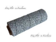 Verpackungsmaterial - Bäcker-Garn Bakers Twine grau - ein Designerstück von Fitzi-Floet bei DaWanda