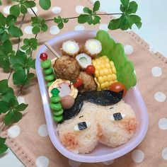 Cute Lunch Boxes, Acai Bowl, Oatmeal, Bento Ideas, Cooking, Breakfast, Recipes, Japan, Foods