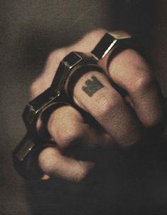 Bwahaha...shanks, brass knuckles