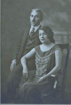 Marika and Kwstas (Gus) Papagkikas. The famous Greek singer in New York before the fall of her carieer, before the black Tuesday. New York 1925