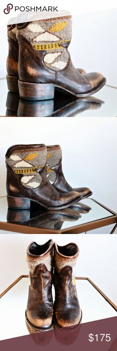 """Free Bird by Steve Madden booties! Free Bird by Steve Madden booties!! In amazing condition, size 6, zips on inside. Suuuuuuch a good steal, these retail for $295 plus tax. Have a """"worn in"""" look to them on purpose. Still selling similar style on the website. Steve Madden Shoes Ankle Boots & Booties"""