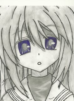 Tomoyo (Clannad) Pencil And Pen Drawing by 717thartist on DeviantArt