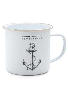 Anchor the Call Mug - Nautical, Good, White, Black, Novelty Print, Top Rated  @Ceri Hall  I thought of you and Jake and your adventures!