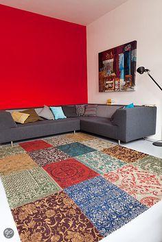 bol.com   Louis de Poortere Vintage Vloerkleed Kelim - Multi-Color 8004 170x240 cm...Geweldig vloerkleed!