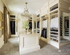 A luxury closet in Dallas, TX, featuring Clive Christian fitted furniture. This cabinetry is built like traditional wardrobes rather than the open system of shelving and hanging rods frequently seen today. Read My Top 10 Tips to Create the Perfect Luxury Dressing Room Closet, Dressing Room Design, Closet Bedroom, Dressing Rooms, Master Closet, Closet Space, Shoe Closet, Walk In Closet Design, Closet Designs