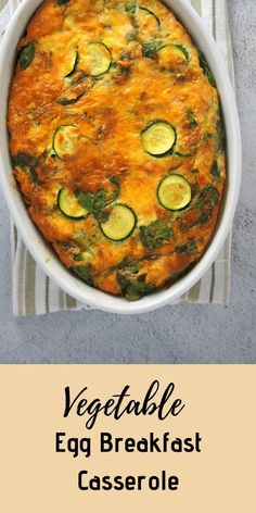 A tasty, filling and nutritious meal, this Vegetable Egg Breakfast Casserole can be made on a Sunday night and enjoyed as an easy breakfast on weekdays. Fun Baking Recipes, Lunch Recipes, Healthy Recipes, Savoury Recipes, Sweets Recipes, Drink Recipes, Delicious Recipes, Simple Recipes, Desserts