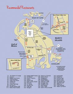Restaurant Map of Marco Island, Florida restaurants.