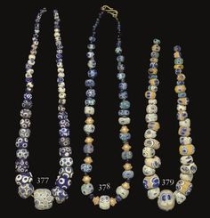 Christie's Large Image A MEDITERRANEAN GLASS EYE BEAD NECKLACE PHOENICIAN OR CARTHAGINIAN, CIRCA 6TH-2ND CENTURY B.C.
