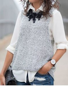 Bec And Bridge Grey Open Back Crop Knitted Tank by Alterations Needed - Looks I love - Casual Summer Dresses, Trendy Dresses, Casual Outfits, Short Sleeve Dresses, Dress Casual, Long Sleeve, Dress Summer, Look Fashion, Trendy Fashion