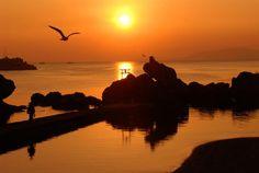 Sunset in Shimabara Shimabara Peninsula (Unzen City, Shimabara City, Obama Town & Minami-Shimabara City) Nature – seas & rivers