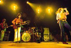 Led Zeppelin in L.A Forum, 1973.