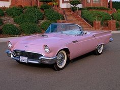My dream car. 1957 PINK Thunderbird Convertible