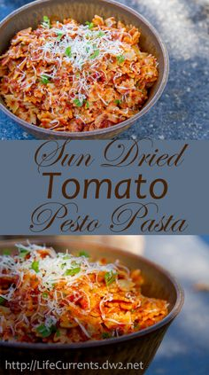 "Sun Dried Tomato Pesto Pasta made with Homemade Roasted ""Sun"" Dried Tomatoes - Life Currents"