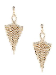 Gold & Crystal Chandelier Earrings by Leslie Danzis on Gilt.com