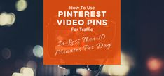 Pinterest Video Pins Social Marketing, Online Marketing, Text Overlay, Pinterest For Business, Pinterest Marketing, Being Used, Helpful Hints, How To Get, Social Media