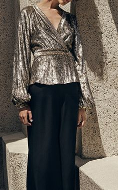 Velvet Wrap Blouse by CO for Preorder on Moda Operandi