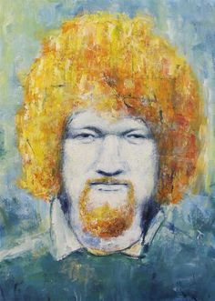 Luke Kelly, irish singer - The Icon Factory is an non-profit, volunteer-based artist co-operative - Temple Bar, Dublin