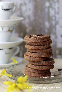 Chocolate Hazelnut {Nutella} Shortbread - a simple slice and bake shortbread!!