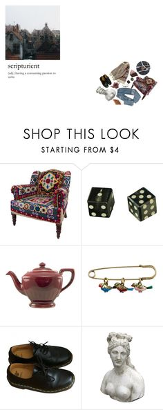 """my veins run liquid language"" by falconia ❤ liked on Polyvore featuring Cath Kidston, Dr. Martens and Romanelli"