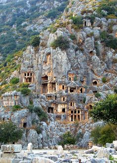 The tombs of Myra, an ancient town in Lycia, Turkey