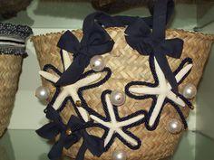 borsa paglia marocchina con perle e passamanerie