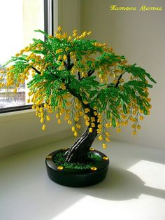 Comments in Topic Bonsai Wire, Bonsai Plants, Bonsai Garden, Bonsai Indoor, Mini Bonsai, Seed Bead Flowers, French Beaded Flowers, Beaded Crafts, Wire Crafts