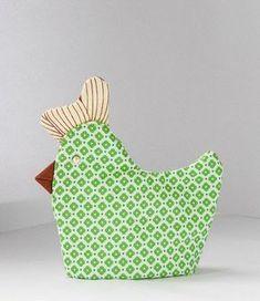 anleitung wie man ostereierwärmer wie Huhn näht