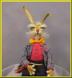 My second offering to my e-Bay store for the 2012 Easter season is this whimsical Brer Rabbit doll, one of two completed for this year! Low $50.00 starting bid!