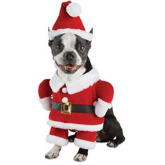 Guess who is coming to town early with the Time for Joy Santa Illusion Costume for Dogs. Secure this pooch-sized Santa dog costume with adjustable Velcro for the best fit.