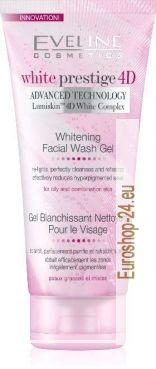 White Prestige 4D bleichendes Wasch Gel  für fettige und Mischhaut.   Das Gesichts Wasch Gel ist mit dem Lumiskin ™ 4D Weiß Komplex angereichert, reinigt tief die Haut und fördert die effektive Aufhellung, was die Haut Tag zu Tag heller macht.