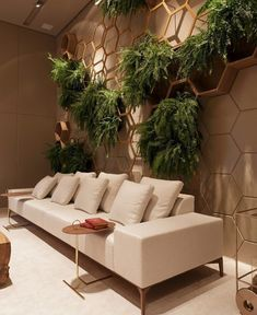 37 Brilliant Indoor Vertical Garden Design Ideas to Brighten Up The Space Cafe Interior, Decor Interior Design, Interior And Exterior, Interior Decorating, Vertical Garden Design, Living Spaces, Living Room, Piece A Vivre, Office Interiors
