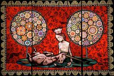 Judith Schaechter - My One Desire, 2007. Stained glass, 52″ × 35″.