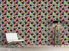 Design #Tapete Sterne Auf Buntglas