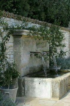 69 Modern Mediterranean Backyard Makeover On A Budget - Garten İdeen Garden Pool, Water Garden, Tropical Garden, Landscape Design, Garden Design, House Landscape, Water Walls, Garden Fountains, Yard Water Fountains