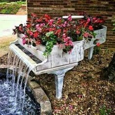 Sometimes a piano is beyond repair.  Here is an unusual way to repurpose it!