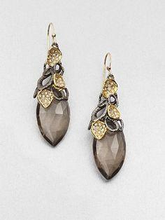 Alexis Bittar - Smokey Quartz Drop Earrings - Saks.com
