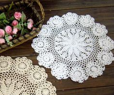 Aliexpress.com : Buy 6cs/lot COLOR OPTIONS crochet doilies wholesale doilies for wedding decor FREE SHIPPING!!! from Reliable wholesale price doilies suppliers on Handmade Shop $17.80