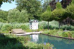 Schaugarten Harms & Müller  Schwimmteich Salzwasser Pool mit Pumpenhaus  Für Filteranlage & Salzelektrolyse  Gartenfestival Schloss Ippenburg