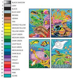 489 best Colour by number images on Pinterest | Color by numbers ...