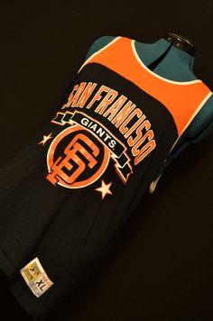 Sf Giants, Baseball shirt, retro tank top, Giants baseball, vintage jersey, summer mens shirt, sleeveless XL, San Francisco, Giants fans by SerialMateriaL on Etsy