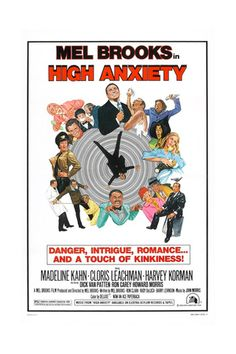 HIGH ANXIETY, US poster, Mel Brooks (top center), 1977 Plakater på AllPosters.dk