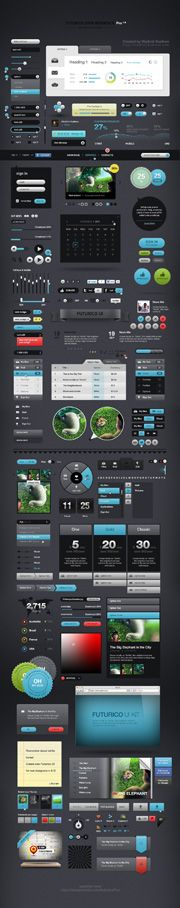 Futurico UI - User Interface Elements Pack - DesignModo